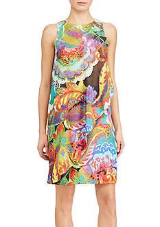 Lauren Ralph Lauren Overlay Paisley Crepe Dress
