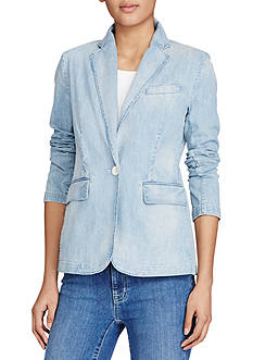 Lauren Ralph Lauren Single-Button Denim Blazer