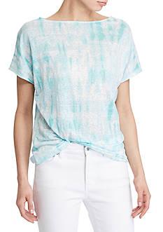 Lauren Ralph Lauren Tie-Dye Linen Knit Top