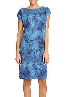 Lauren Ralph Lauren Linen Jersey Shift Dress