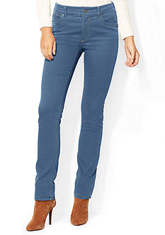 Lauren Ralph Lauren Petite Size Super-Stretch Heritage Straight Perry-Wash Jeans
