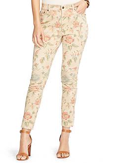 Lauren Ralph Lauren Petite Floral Stretch Skinny Jeans