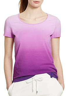 Lauren Ralph Lauren Petite Ombre Stretch-Cotton Tee