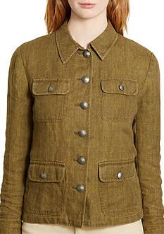 Lauren Ralph Lauren Plus Size Linen Jacket