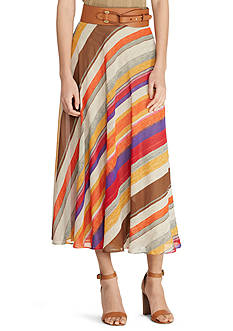 Lauren Ralph Lauren Petite Size Serape Georgette Maxi Skirt