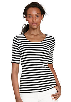 Lauren Ralph Lauren Petite Striped Stretch-Cotton Tee