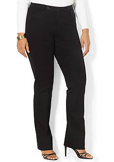 Lauren Ralph Lauren Plus Size Stretch-Twill Slimming Straight Pant