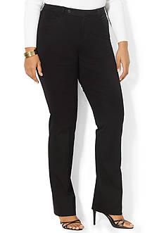 Lauren Ralph Lauren Plus Size Stretch-Twill Slimming Straight Pant