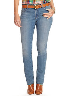 Lauren Ralph Lauren Super-Stretch Heritage Straight Perry-Wash Jean