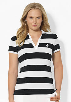 Lauren Ralph Lauren Plus Size Striped Polo Shirt