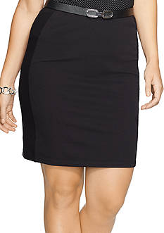 Lauren Ralph Lauren Plus Size Pique Pencil Skirt