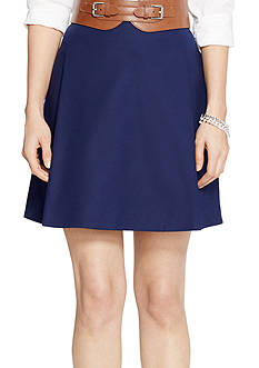 Lauren Ralph Lauren Plus Size Pleated Cotton Miniskirt