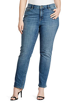 Lauren Ralph Lauren Plus Size Slim Perry Jeans
