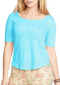 Lauren Ralph Lauren Plus Size Linen Jersey Top