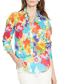 Lauren Ralph Lauren Plus Size Floral Cotton Shirt