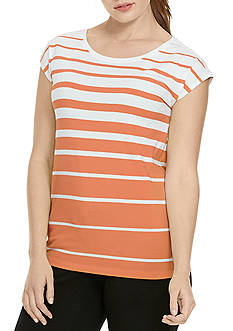 Lauren Ralph Lauren Plus Size Striped Jersey Top