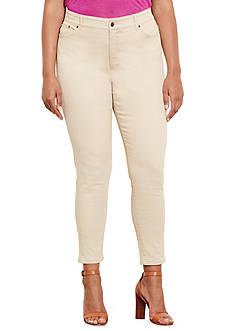 Lauren Ralph Lauren Plus Size Premier Skinny Ankle Jeans