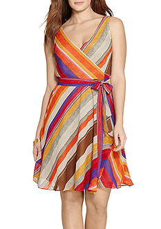 Lauren Ralph Lauren Plus Size Floral-Print Wrap Dress