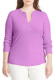 Lauren Ralph Lauren Cotton Half-Zip Shirt