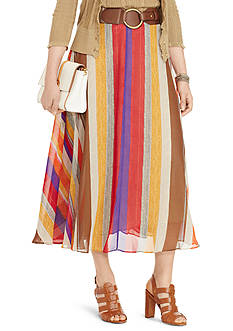 Lauren Ralph Lauren Plus Size Serape Georgette Maxiskirt