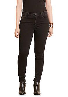 Lauren Ralph Lauren Plus Size Zip-Cuff Skinny Jean