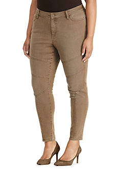 Lauren Ralph Lauren Plus Size Stretch Skinny Moto Jean