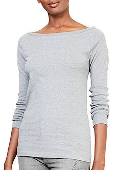 Lauren Ralph Lauren Plus Size Stretch Cotton Long-Sleeve Tee
