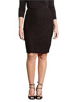 Lauren Ralph Lauren Plus Size Lace Pencil Skirt