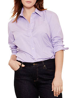 Lauren Ralph Lauren Plus Size Stretch Broadcloth Shirt
