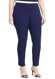 Lauren Ralph Lauren Plus Size Stretch Cotton Skinny Pant