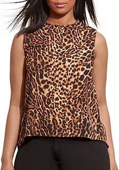 Lauren Ralph Lauren Plus Size Altsoba Sleeveless Shirt