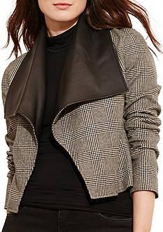 Lauren Ralph Lauren Plus Size Glen Plaid Wool Jacket