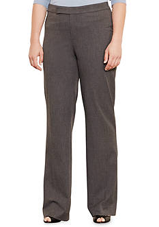 Lauren Ralph Lauren Plus Size Stretch Twill Flared Pant