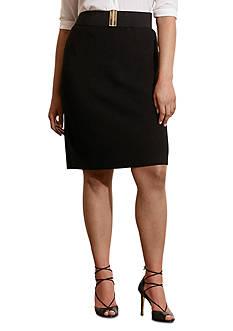 Lauren Ralph Lauren Plus Size Rib-Knit Merino Skirt