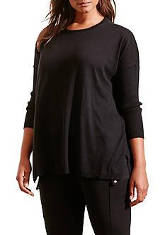 Lauren Ralph Lauren Plus Size Relaxed Silk-Blend Sweater