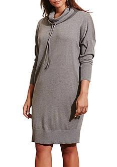 Lauren Ralph Lauren Plus Size Jersey Funnelneck Dress