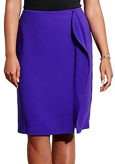Lauren Ralph Lauren Plus Size Ruffled Pencil Skirt