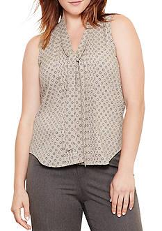 Lauren Ralph Lauren Plus Size Foulard-Print Georgette Top