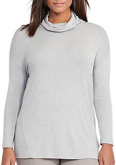 Lauren Ralph Lauren Plus Size Cowlneck Jersey Sweater