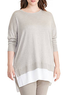 Lauren Ralph Lauren Plus Size Layered Long-Sleeve Sweater
