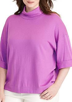 Lauren Ralph Lauren Jersey Short-Sleeve Sweater