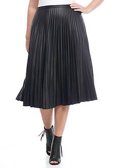 Lauren Ralph Lauren Plus Size Colyn Ruffle Skirt