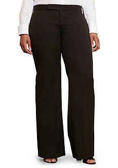 Lauren Ralph Lauren Plus Size Stretch-Twill Flared Pant