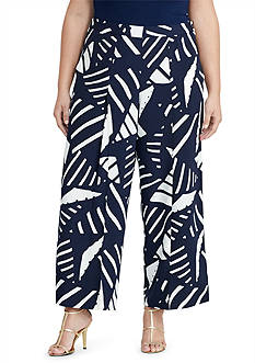 Lauren Ralph Lauren Plus Size Crepe Wide-Leg Pant