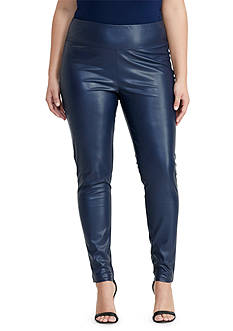 Lauren Ralph Lauren Plus Size Faux-Leather Legging