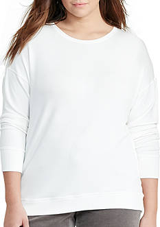Lauren Ralph Lauren Plus Size Relaxed Jersey Top