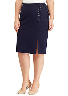 Lauren Ralph Lauren Plus Size Danizio Straight Skirt