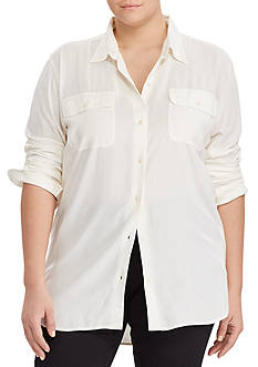 Lauren Ralph Lauren Plus Size Button-Up Workshirt