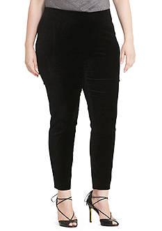 Lauren Ralph Lauren Stretch-Velvet Skinny Pants
