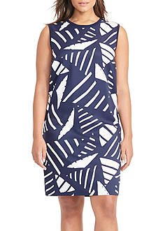 Lauren Ralph Lauren Plus Size Printed-Front Sweater Dress